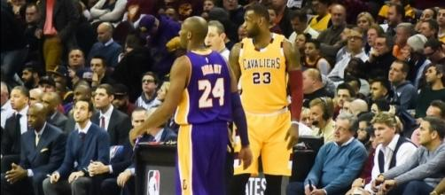 Lebron and Kobe in Cleveland. [Image via Flickr/ Edrost88]