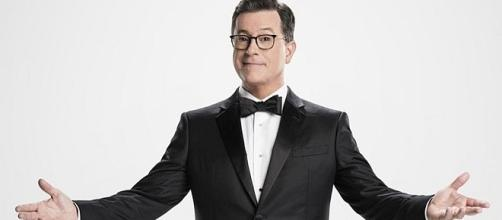 Stephen Colbert, first time host of Emmy Awards [Entertainment Tonight/YouTube screenshot]