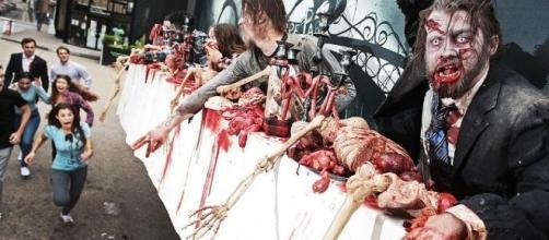 Una valla publicitaria con zombies 'vivos' para promocionar The Walking Dead