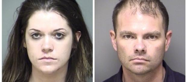 Amanda Lynn Mollison and Justin Chadwick Brown (Denton County Sheriff's Office Photos)