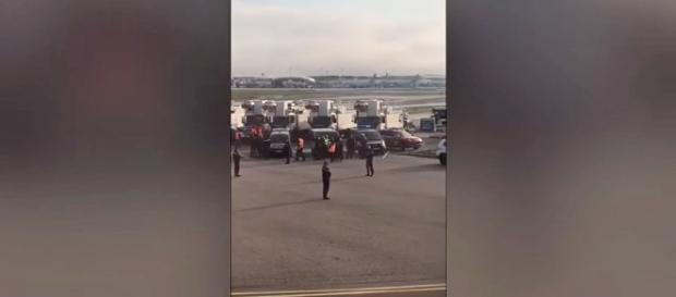 """British Airways flight was evacuated due to a """"security"""" threat at Paris airport [Image: YouTube/Video Lucu Ngakak]"""
