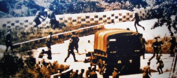 Fotografía tomada durante el incidente