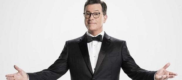 Stephen Colbert, first time host of Emmy Awards [Entertainment Tonight/YouTube screenshot]