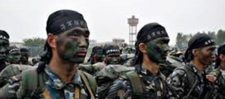 The Chinese army. https://upload.wikimedia.org/wikipedia/commons/3/37/Marines_of_the_People%27s_Liberation_Army_%28Navy%29.jpg