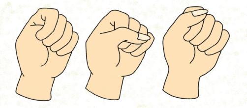 Ao fechar a mão, estudiosos acreditam que o lugar que você coloca o dedão define sua personalidade