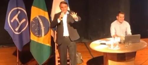 Bolsonaro em palestra no Rio de Janeiro