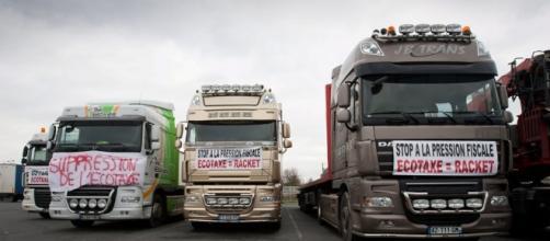 Ecotaxe : les routiers en colère menacent de bloquer la France - lesechos.fr