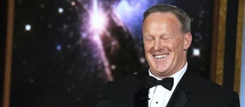 James Corden slammed for 'kissing' Sean Spicer at Emmys - digitalspy.com