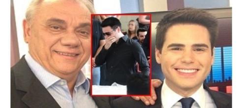 Luiz Bacci emocionado, se despediu do jornalista Marcelo Rezende ( Foto - Reprodução )