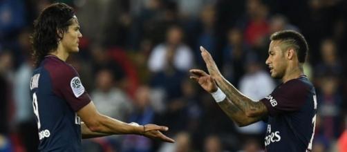 Neymar et Cavani se livrent un duel d'égo (Franck Fife AFP).