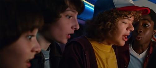 "The boys of the AV Club are set to welcome a new girl, Max in ""Stranger Things"" season 2. (YouTube/Netflix)"