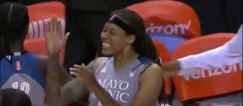 The Minnesota Lynx grabbed a Game 3 win on Sunday over the Mystics to advance to the WNBA Finals. [Image via WNBA/YouTube]