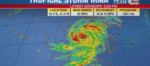 TS Irma strengthening over Atlantic, expected to become hurricane ... - wfla Youtube screen grab