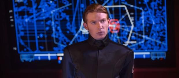 Domhnall Gleeson as Geenral Hux in the Star Wars. Credits to: Youtube/Star Wars Eplained