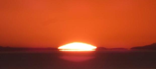 Fantastico tramonto rosso sul Salento.