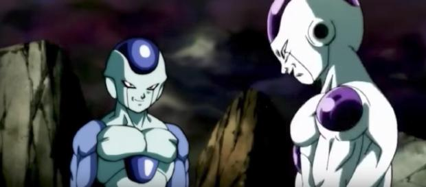 "Frost and Frieza in ""Dragon Ball Super."" (Dark Aces / YouTube)"