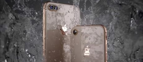 The iPhone 8 and iPhone 8 Plus have a durable glass design. (via TheVerge/Youtube)