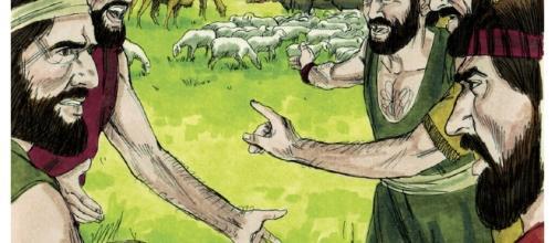 Abraão e Ló porsperam tanto que não podiam mais
