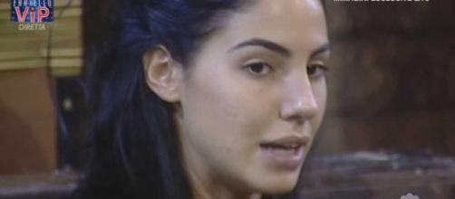 Giulia De Lellis in lacrime al GF vip