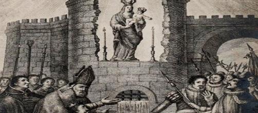 Hallazgo de la imagen de la Virgen de la Almudena en Madrid.