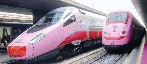 I treni FrecciaRosa messi a disposizione dal Gruppo Fs