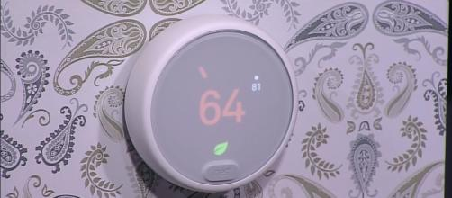 Nest's newest thermostat fits right in any modern home. (via BloombergTechnology/Youtube)