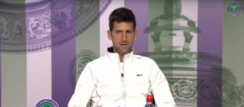 Novak Djokovic during a press conference at 2017 Wimbledon/ Photo: screenshot via Wimbledon official channel on YouTube
