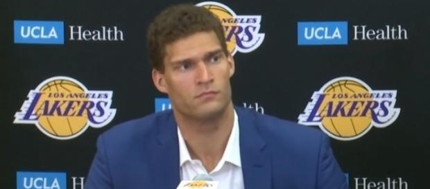 Lakers center Brook Lopez may miss some preseason games. [Image via YouTube/Ximo Pierto]