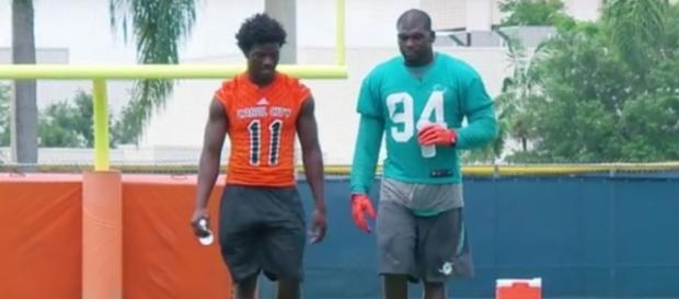 Lawrence Timmons suspended from the Miami Dolphins. Image-Miami Dolphins/YouTube