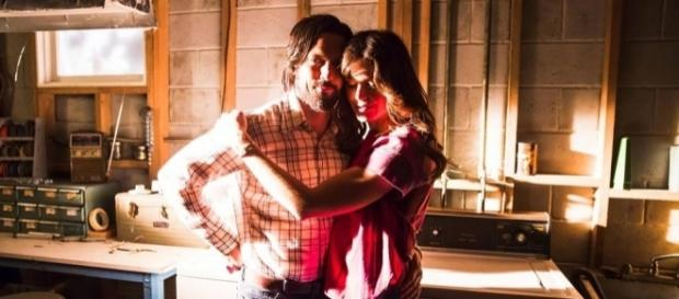 """Milo Ventimiglia and Mandy Moore play Jack and Rebecca Pearson on """"This Is Us"""" on NBC. ~ Facebook/NBCThisIsUs"""