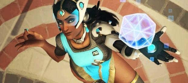 'Overwatch' hero Symmetra. [Image via YouTube/IGN]