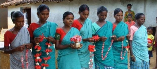 Santal people in Jharkhand India. Photo from Jessica Ridgewell via Wikipedia Commons