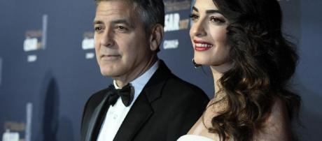 George Clooney e la moglie Amal Alamuddin a Venezia: ci sono anche i gemelli