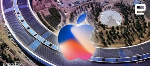 Apple launches iPhone 8 at the spaceship campus on Sept. 12. Image credit - Engadget/YouTube.