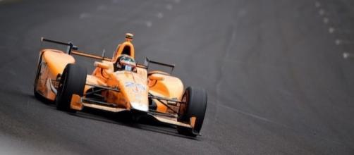 Fernando Alonso, durante las 500 millas de Indianápolis de este año.