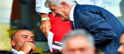 Giulio Gallazzi e Beniamino Anselmi durante Genoa Juventus