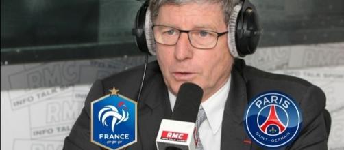 Jean-Michel Larqué à l'antenne de RMC