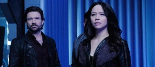 "Syfy has decided to cancel Joseph Mallozzi's ""Dark Matter"" after three seasons. (Syfy)"