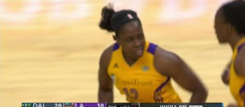 The L.A. Sparks host the Atlanta Dream in Friday's late game on the WNBA schedule. [Image via WNBA/YouTube]