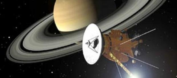 Cassini orbiting Saturn (NASA)