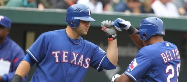 Mitch Moreland and Adrian Beltre | Baltimore Orioles v/s Tex… | Flickr - flickr.com