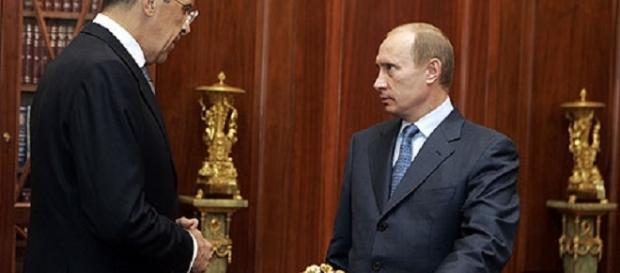 Sergey Lavrov with Vladimir Putin. https://upload.wikimedia.org/wikipedia/commons/1/1f/Vladimir_Putin_with_Sergey_Lavrov-1.jpg