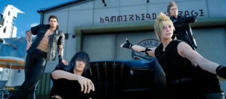The four main characters of Final Fantasy XV. Credits to: Youtube/Final Fantasy XV