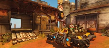 The Junkertown 'Overwatch' map. [image source: YouTube/PlayOverwatch]