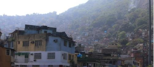 Comunidade da Rocinha no Rio de Janeiro