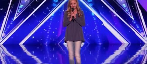"Eva Claire sings to ""America's Got Talent"" finals despite dad's death. YouTube/Got talent global"