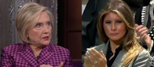 Hillary Clinton, Melania Trump, via YouTube