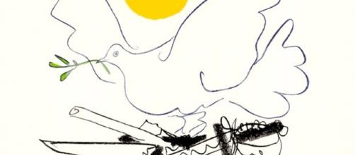 Icono de la paz de Pablo Picasso. Public Domain.