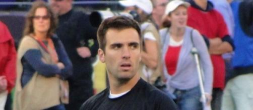 Joe Flacco and the Ravens could have issues in London. ANC516 via Wikimedia Commons