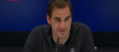 Roger Federer during a press conferece at 2017 US Open/ Photo: screenshot via US Open Tennis Championships channel on YouTube